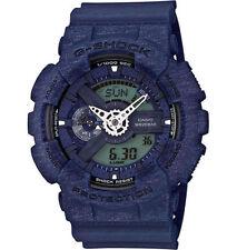 Mens Casio G-Shock Heather Blue Rubber Digital Chronograph Watch GA110HT-2A