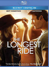 The Longest Ride (Blu-ray Disc, 2015) Mint With Slip Cover With Digital HD Code