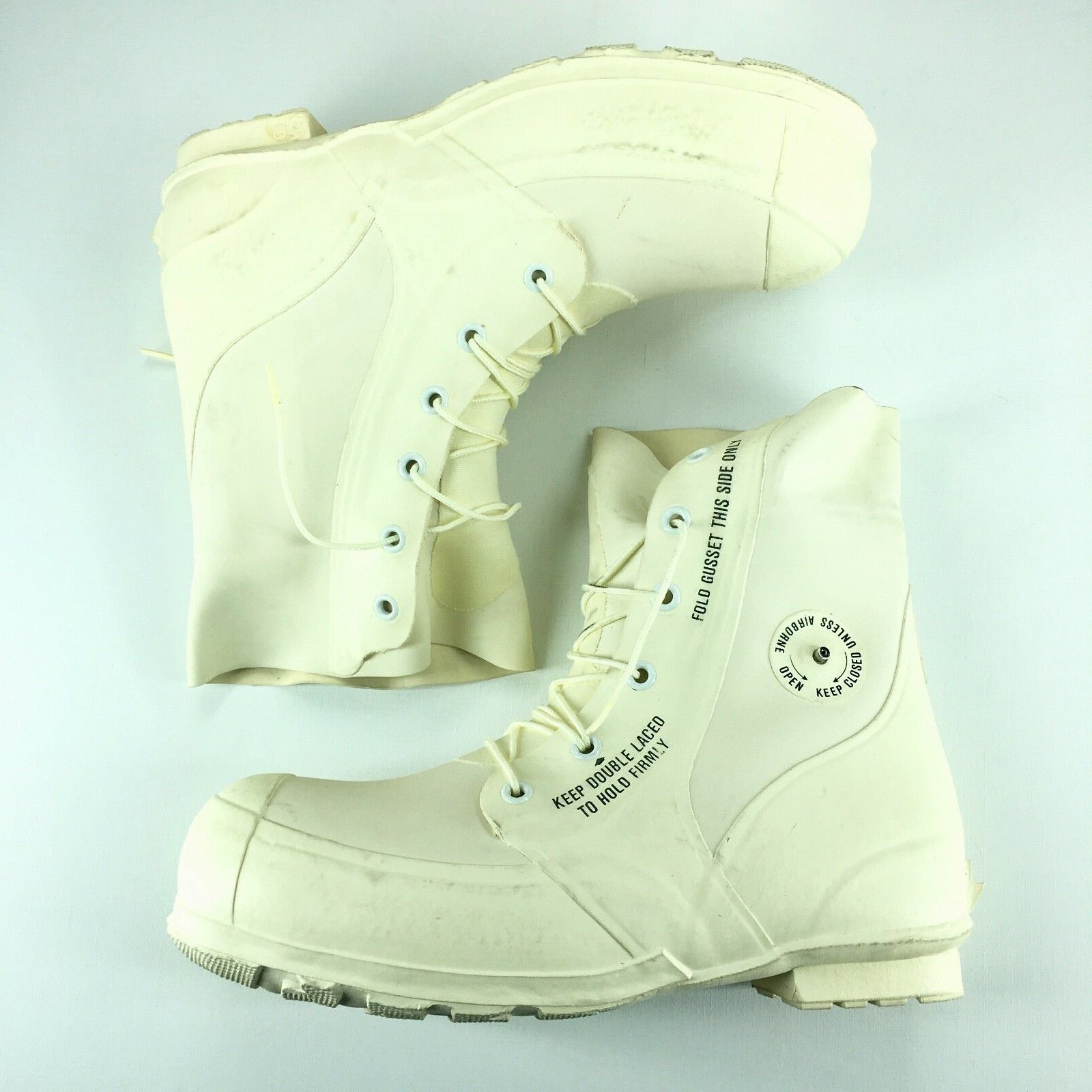 Men's MILITARY EXTREME COLD WEATHER Boots Waterproof White Size - 14XN