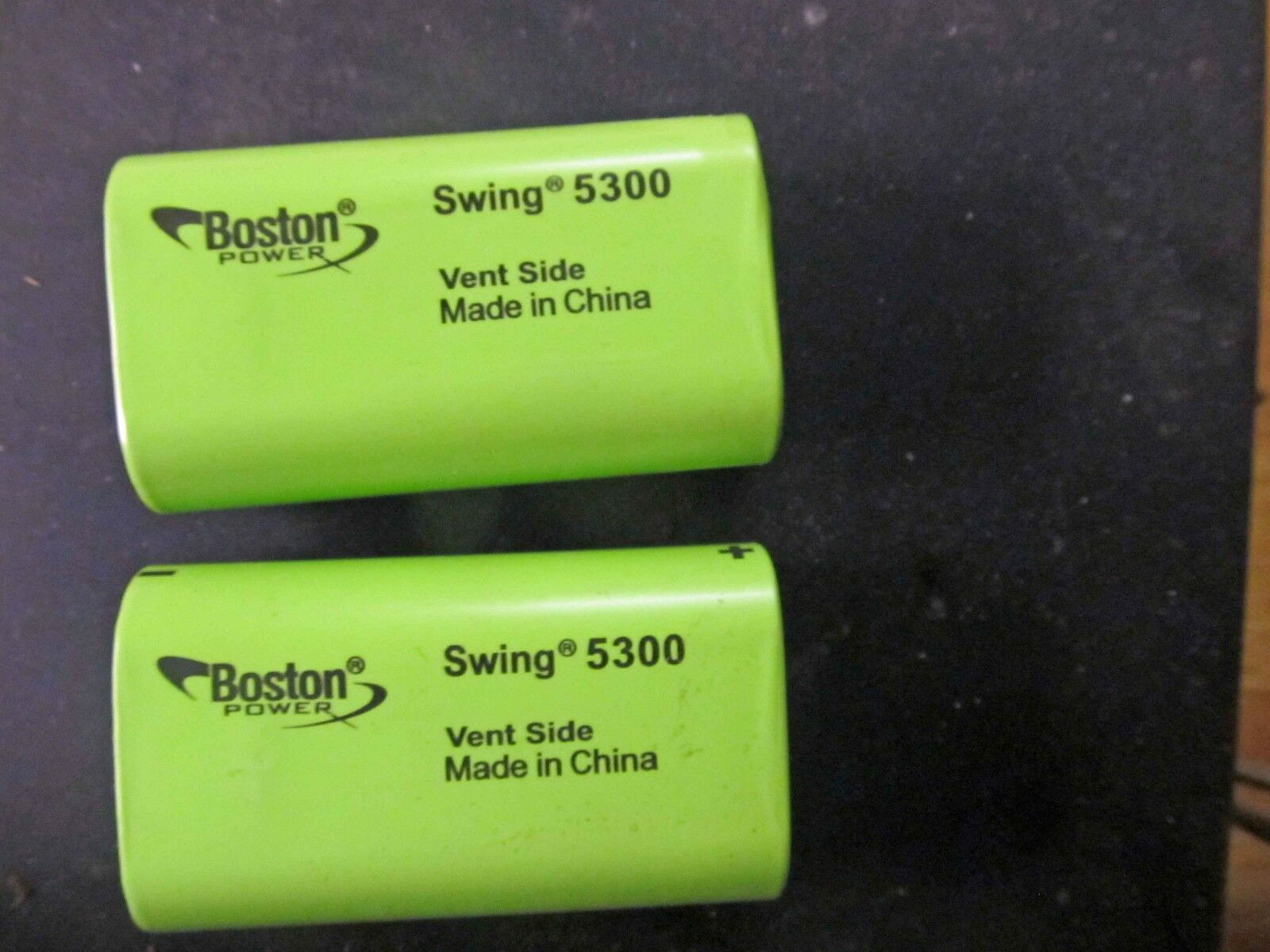 (2) Boston Power Swing 5300 Lithium batteries HIGH DISCHARGE HIGH DRAIN