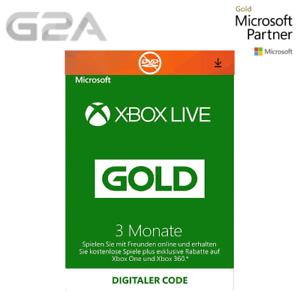 3-Monate-Xbox-Live-Gold-Midgliedschaft-Card-Microsoft-Xbox-ONE-X-360-Key