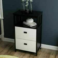 New Listingnew 2 Drawer Stand Up Lateral File Cabinet With Open Compartment Storage Space