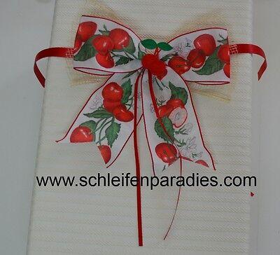 Süße Kirsche Geschenk Schleife Kirschen Geschenkschleife für Geschenkkorb
