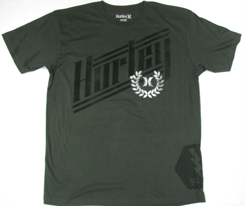 Hurley T Shirt Charcoal Vintage Fade Logo Hurley  100/% Cotton