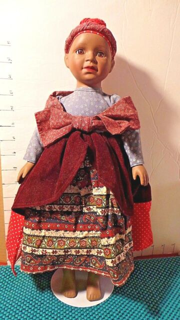 Doll, African American, Ethnic Dress, JCPenney Co., 1992, w/Stand,16""