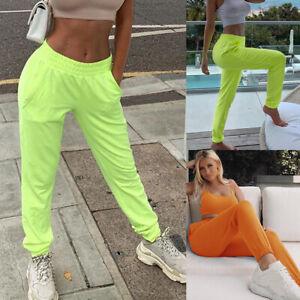 Damen-Jogginghose-Freizeithose-Sporthose-Elastisch-Trainingshose-Fitness-Hosen