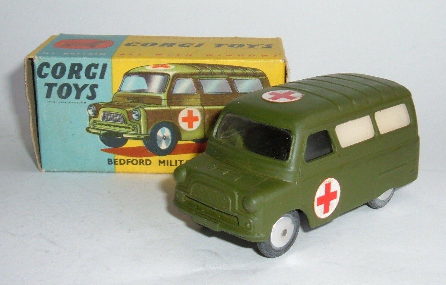 Corgi Toys No. 414, Bedford Military Ambulance - Superb Mint