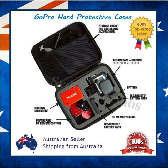 GoPro Hero 4 / 3+ 3 Storage Protective Carry Travel EVA Box Case Bag for Go Pro