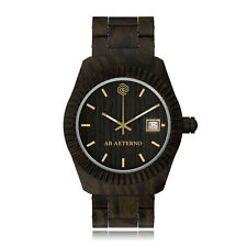 "AB Aeterno ""Storm"" 100% Black Sandal Wood Swiss Movement Quartz Men's Watch"