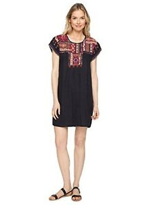 Johnny-Was-Reld-Pleated-Peasant-Embroidered-Tunic-Dress-Boho-Chic-NWT-J20517