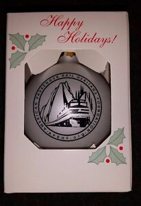 American-Passenger-Rail-Heritage-Foundation-Glass-Christmas-Ornament