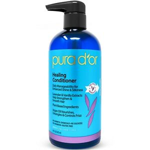 PURA-D-039-OR-Dor-Healing-Conditioner-Lavender-Vanilla-w-Organic-Argan-Oil-16-oz