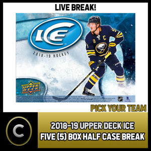 2018-19-UPPER-DECK-ICE-5-BOX-HALF-CASE-BREAK-H300-PICK-YOUR-TEAM
