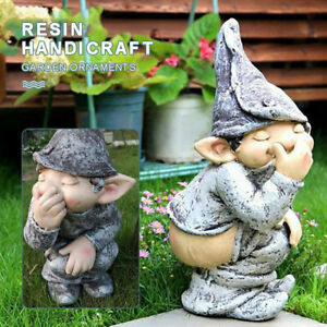Funny Resin Naughty Garden Gnome Garden Decoration Statue Gnome Decoration ch