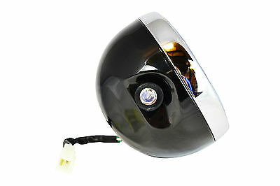 "Headlight for Yamaha XJR1200 XJR1300 Cafe Racer Project 6.5"" Black Steel 12V 35W"