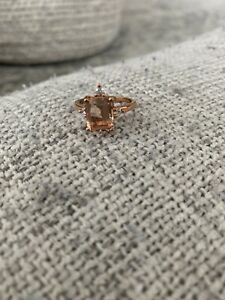 Morganite-Rose-Gold-Ring-Size-7-5-Plated