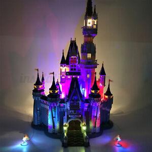 Updated USB LED Light Kit ONLY For Lego 71040 For Disney Castle Bricks Toys