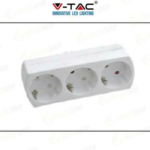 3 OUTLET POWER ADAPTER WITH EARTH CONTACT 16A 250V