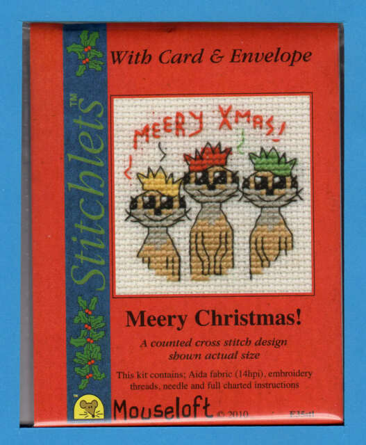 various Mouseloft Christmas Stitchlets Cross Stitch Kit with card /& envelope