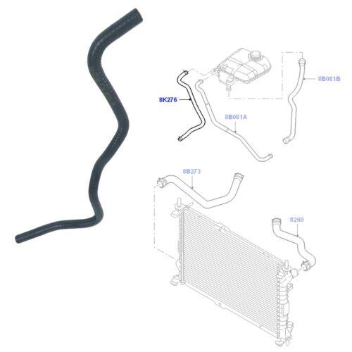 Desbordamiento de Radiador Manguera De Tanque cabe Ford Tourneo Transit Conectar MK6 MK7 1451531
