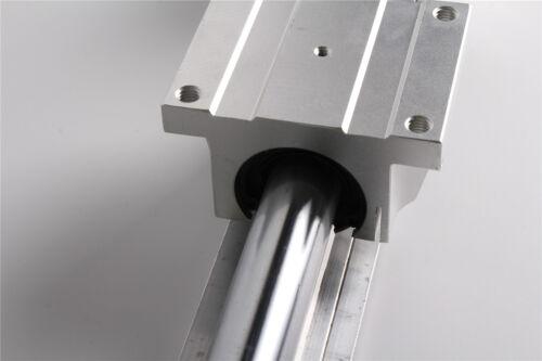 1 set TBR16-260mm Linear Slide Guide Rail Shaft 2 TBR16UU Bearing Block
