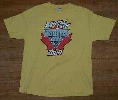 Monster Jam Maple Leaf Tour Track Crew Shirt XL Extra ...