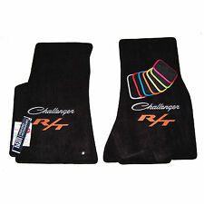 Dodge Challenger CLASSIC R/T Floor Mats 2009 - 2016 - Silver & Orange Logos