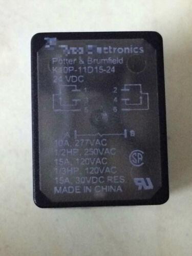 NEW K10P-11D15-24v FOR tyco Potter /& Brumfield Relay 15A 24VDC