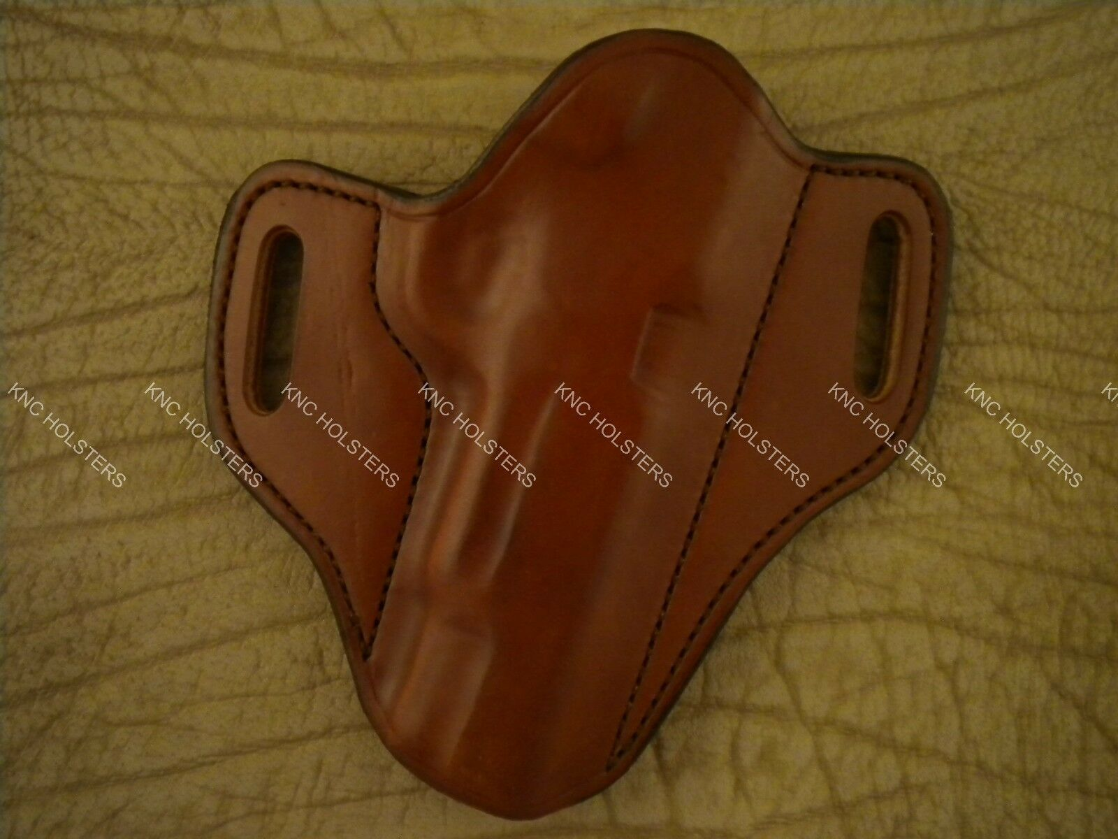 1911 5  Barrel  Leather Gun Holster  Right Hand Tan Made In U.S.A.