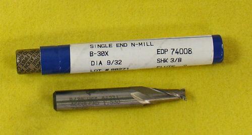 "Fastcut 9//32/"" 2 Flute SE HSS Endmill End Mill  #74008 B-30X  B30X  *Made in USA"