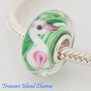 FROG GREEN LAMPWORK MURANO GLASS .925 Sterling Silver EUROPEAN EURO Bead Charm