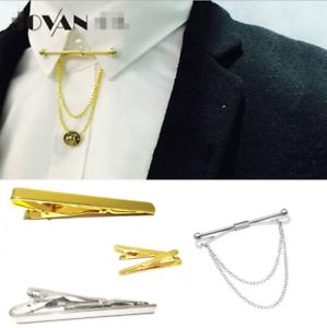 Elegante-Camicia-Uomo-Silver-Oro-Collare-Clip-Bar-Pin-Clip-Catena-Spilla-Cravatta-Cravatte