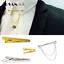 Elegante-Camicia-Uomo-Silver-Oro-Collare-Clip-Bar-Pin-Clip-Catena-Spilla-Cravatta-Cravatte miniatura 1