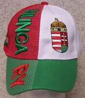 Embroidered Baseball Cap International Hungary Magyar 1 Hat Size Fits All