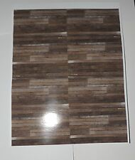 TWO DARK BROWN WOOD PLANK STYLE SIDING DECALS (INDOOR USE ONLY) 1:18/1:24SCALE