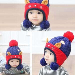 d421c14ba81 ND  LC  HK- Cat Fish Baby Boys Girls Warm Winter Knitting Beanie ...