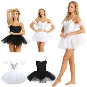 Women-039-s-Swan-Lake-Ballet-Tutu-Dress-Ballerina-Skirt-Leotard-Unitard-Dancewear