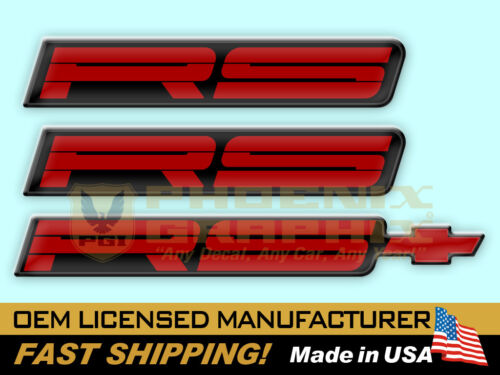 1991 1992 Camaro RS Rally Sport Domed Decal Emblems Kit