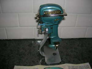 Toy Outboard Motor 1954 Evinrude K O Toy Wood Boat Ito