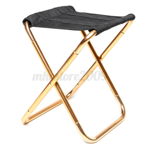 Aluminum Alloy Folding Chair Outdoor Fishing Barbecue Stool Beach Camping Seat