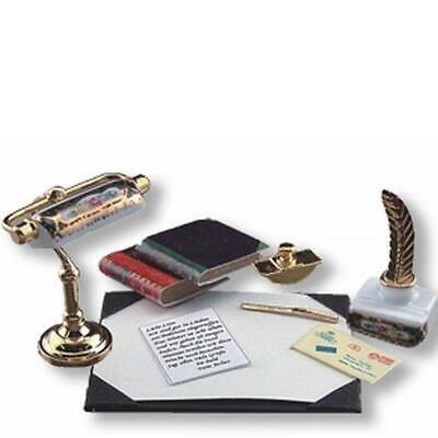 Dollhouse Miniature Desk Set with Blotter