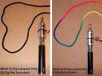 Vape Pen/mod/atomizer Holder Black Or Rainbow Lanyard Fits Up To 3/4 Tanks