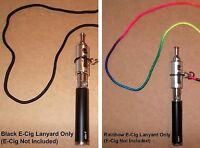 Vape Pen/mod/atomizer Holder Black Or Rainbow Lanyard Fits Up To 3/4 Tanks
