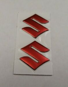 SUZUKI-3D-RED-CHROME-BADGE-LOGO-STICKERS-GRAPHICS-DECALS-SUPERBIKE-GSXR-GSR-SV