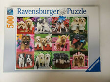 Big Ben Puppy Play Date 500 Piece Puzzle Puppies Dog in Red Wagon