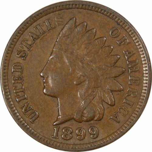 1899 1c Indian Head Cent Penny US Coin XF EF Extremely Fine