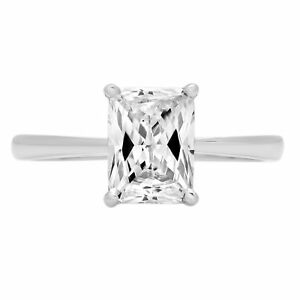 2ct-Emerald-Cut-Solitaire-Engagement-Wedding-Bridal-Promise-Ring-14k-White-Gold