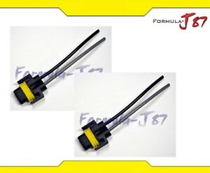 Wire-Pigtail-Female-P-H11-Two-Harness-Fog-Light-Bulb-Repair-Socket-Plug-Lamp-Fit