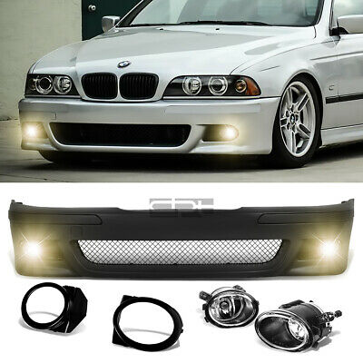 Fit 96-03 BMW E39 5Series M5 Style Replacement Front Bumper Body Kit+Fog Light