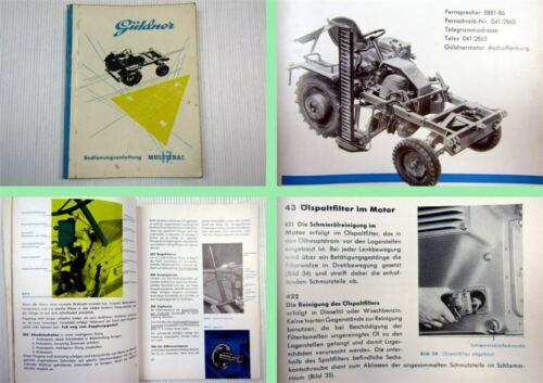 Güldner multitrac 17ps manual de instrucciones ca 1957//1960 Ritscher multitrac